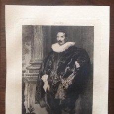 Arte: ANTON VAN DYCK. 1599-1641. LITO FRANCESA. ENVIO INCLUIDO EN EL PRECIO.. Lote 167029928