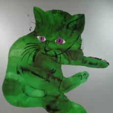 Arte: ANDY WARHOL, CAT FROM 25 CATS NAME SAM. 1956. LITOGRAFÍA ORIGINAL CON NÚMERO © FUNDACIÓN DE NEW YORK. Lote 184444677