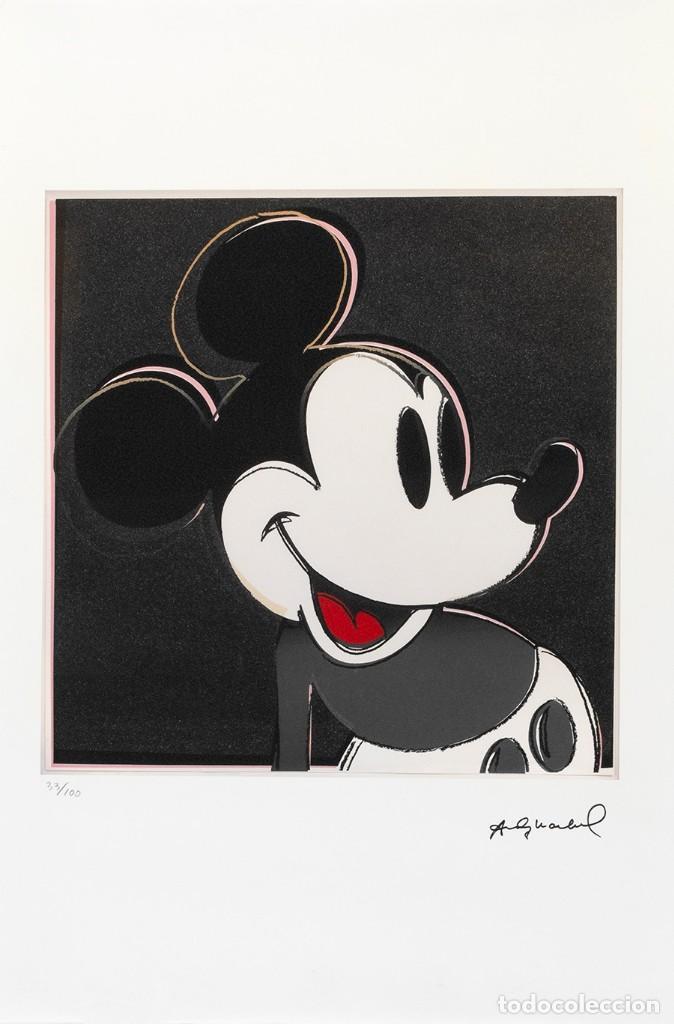 LITOGRAFÍA MICKEY MOUSE DE ANDY WARHOL ORIGINAL - SALIDA 1€!! (Arte - Litografías)