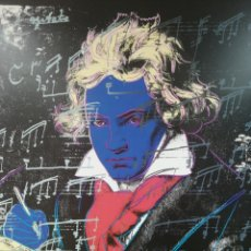 Arte: ANDY WARHOL, BEETHOVEN, 1987. LITOGRAFIA GIGANTE 97X97 ORIGINAL ©1992 FUNDACIÓN VISUAL ARTS. RARA. Lote 182600028