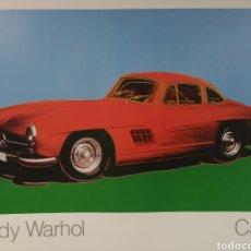 Arte: ANDY WARHOL, CARS. MERCEDES 300 SL. ANTIGUA LAMINA CARTEL LITOGRAFÍA. ORIGINAL © 1988. NUMERADA 074. Lote 167340638