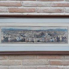 Arte: CROMOLITOGRAFIA ENMARCADA Y CRISTAL - PINTOR : GUERRERO MALAGON - TOLEDO SIMBOLO.. Lote 167679868