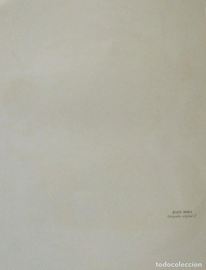 Arte: JOAN MIRÓ. LITOGRAFÍA ORIGINAL Nº V. EN BUEN ESTADO. 32X25 CM. POLÍGRAFA. 1977. - Foto 2 - 167746108