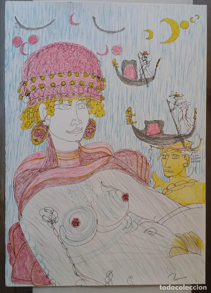 Arte: Tono Zancanaro, Venecia, litografía firmada - Foto 2 - 167898148