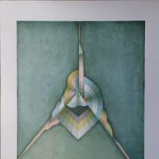 Arte: GIOVANNI HUBER: LITOGRAFÍA FIRMADA Y NUMERADA A LÁPIZ DE 1987.. Lote 167848610