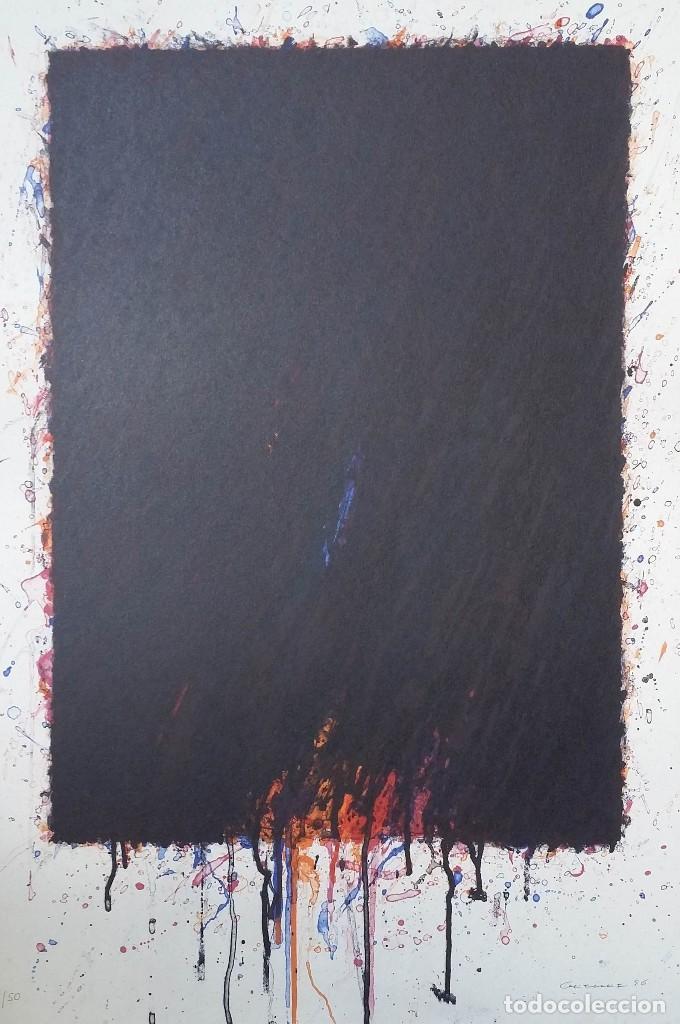 Arte: Bernd Berner, expresionismo abstracto, litografía de 1996 - Foto 2 - 168102432