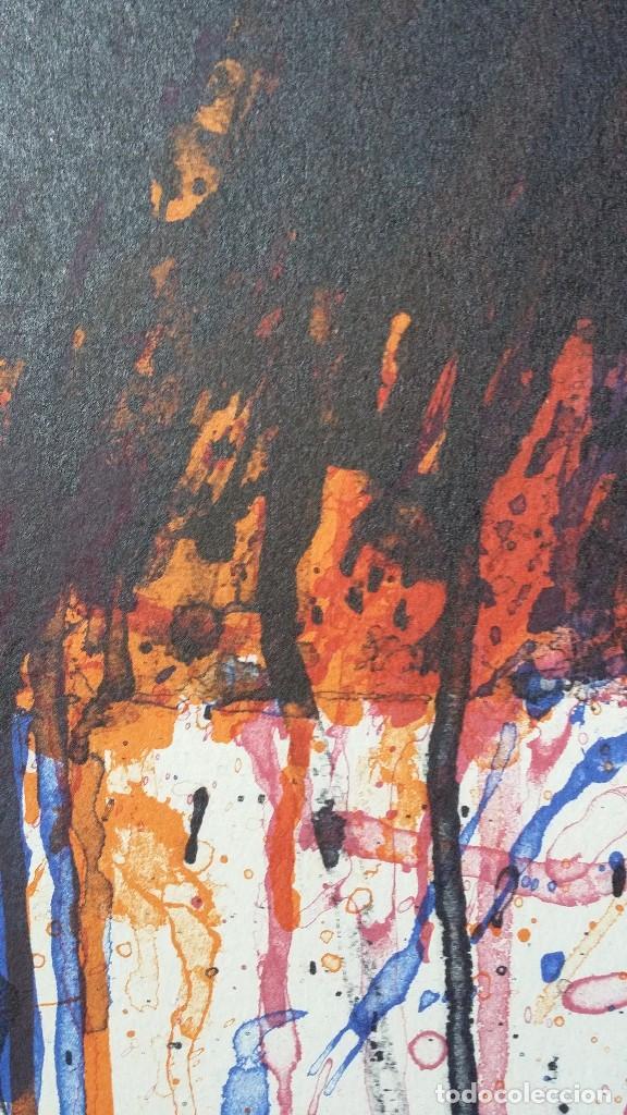 Arte: Bernd Berner, expresionismo abstracto, litografía de 1996 - Foto 4 - 168102432