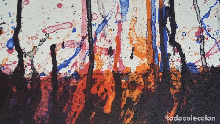 Arte: Bernd Berner, expresionismo abstracto, litografía de 1996 - Foto 5 - 168102432