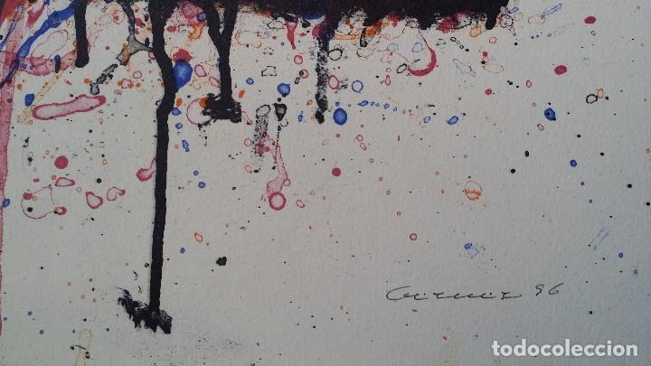 Arte: Bernd Berner, expresionismo abstracto, litografía de 1996 - Foto 11 - 168102432