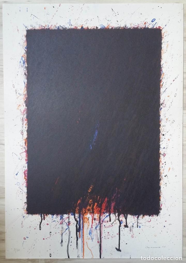 Arte: Bernd Berner, expresionismo abstracto, litografía de 1996 - Foto 18 - 168102432
