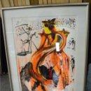 Arte: ORIGINAL LITOGRAFIA DE SALVADOR DALI BULLFIGHTER . AÑO 1972. CON AUTOGRAFO Y CERTIFICADO AUTENCIDAD. Lote 168597996