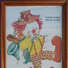 Arte: LITOGRAFÍA ENMARCADA CAMINA SIEMPRE FELIZ POR LA VIDA. Lote 168671848