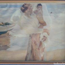Arte: LITOGRAFÍA ENMARCADA DESPUÉS DEL BAÑO FIRMADA SOROLLA 1967. Lote 168679272