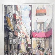Arte: LOLA ANGLADA - LITOGRAFIA COLOREADA A MANO . Lote 168691652