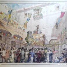 Arte: LOLA ANGLADA - LITOGRAFIA COLOREADA A MANO . Lote 168692544