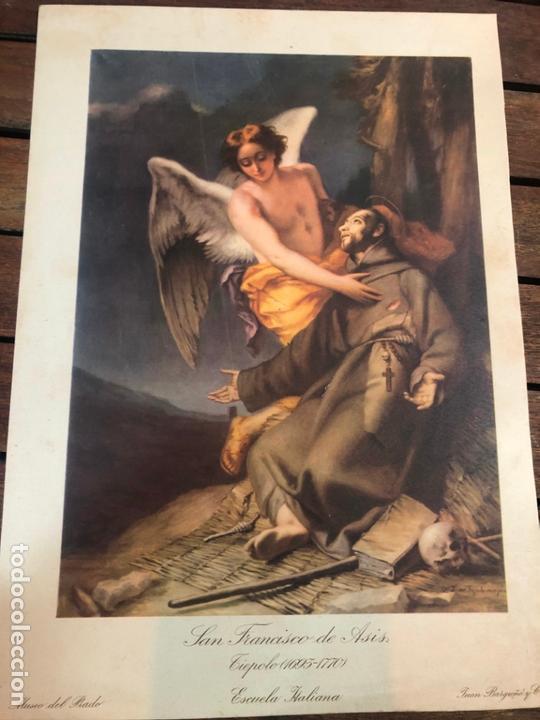 LAMINA LSAN FRANCISCO DE ASIS - MUSEO DEL PRADO - MEDIDA 35X24 CM (Arte - Litografías)