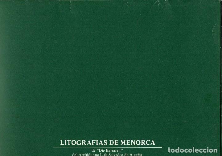 Arte: LITOGRAFIAS DE MENORCA DE DIE BALEAREN DEL ARCHIDUQUE LUÍS SALVADOR DE AUSTRIA. AÑO ¿? (MENORCA.2.4) - Foto 14 - 168940304