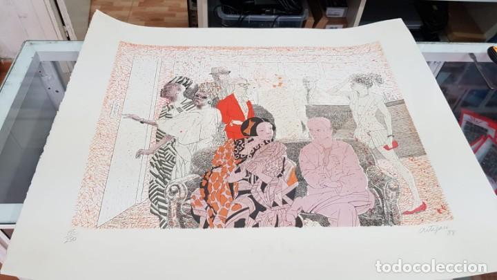 Arte: Francesc Artigau, litografía del año 1988 - Foto 3 - 169733040