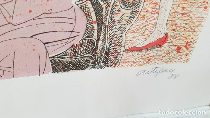 Arte: Francesc Artigau, litografía del año 1988 - Foto 6 - 169733040