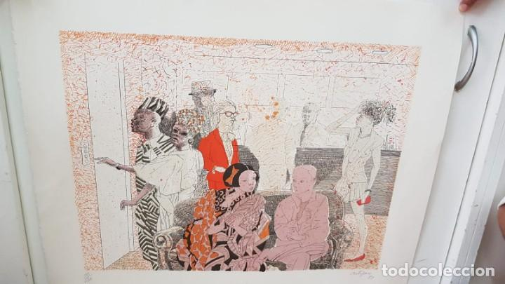 Arte: Francesc Artigau, litografía del año 1988 - Foto 7 - 169733040