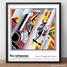 Arte: ROY LICHTENSTEIN -REFLECTIONS-WHAAM-1993 LITHOGRAFIA-OFFSET. POSTER EXPOSICION GUGGENHEIM EEUU.65X68. Lote 290600113