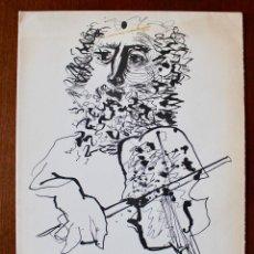 Arte: LITOGRAFÍA ANTONI CLAVÉ- FELICITACIÓN NAVIDEÑA - 300/10- 1964- JOAN B. CENDRÓS. Lote 169982452