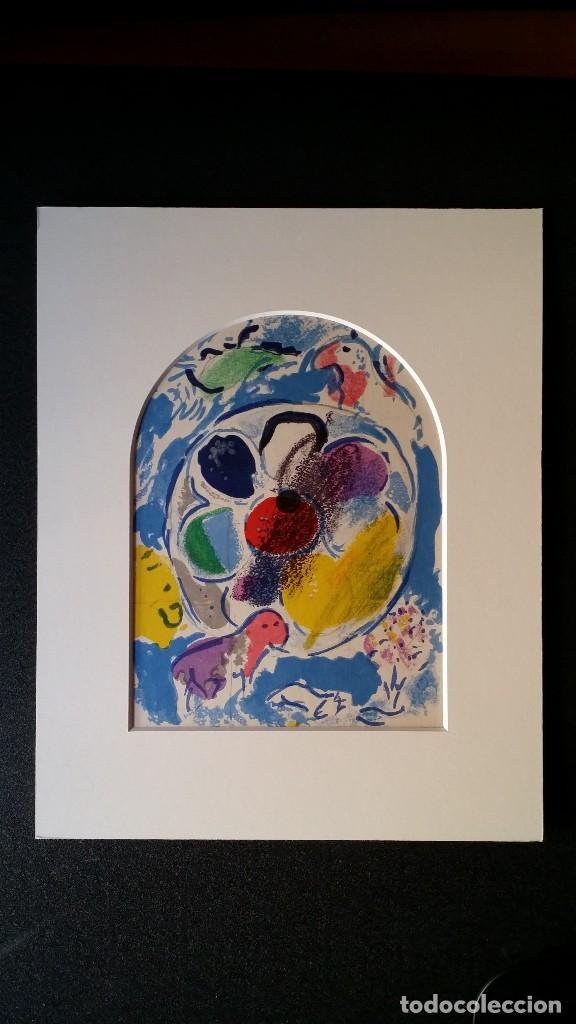 Arte: Marc CHAGALL: litografía BENJAMIN, Vidrieras de JERUSALEM / SAURET-MOURLOT, 1962 - Foto 2 - 170368608