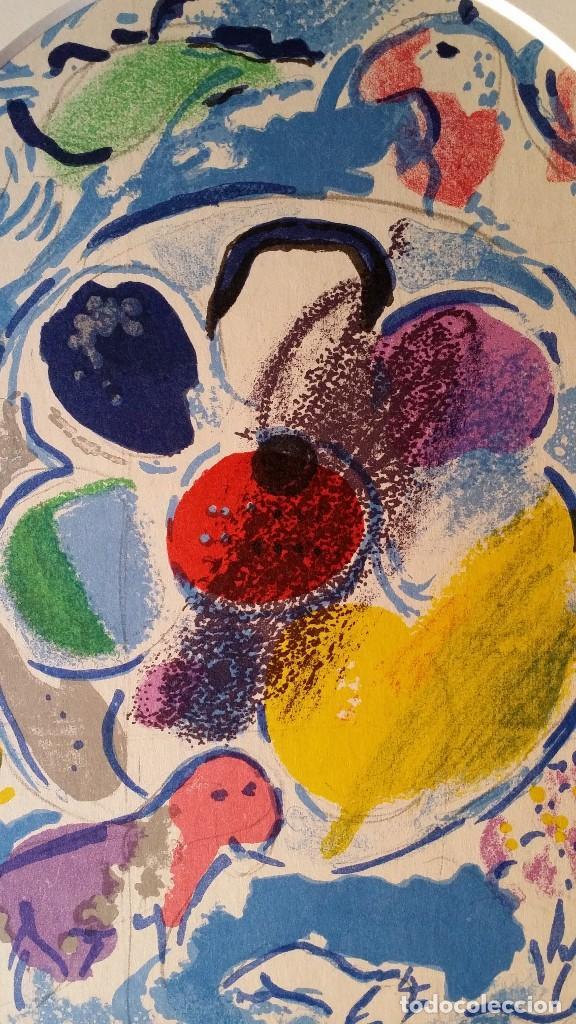 Arte: Marc CHAGALL: litografía BENJAMIN, Vidrieras de JERUSALEM / SAURET-MOURLOT, 1962 - Foto 4 - 170368608