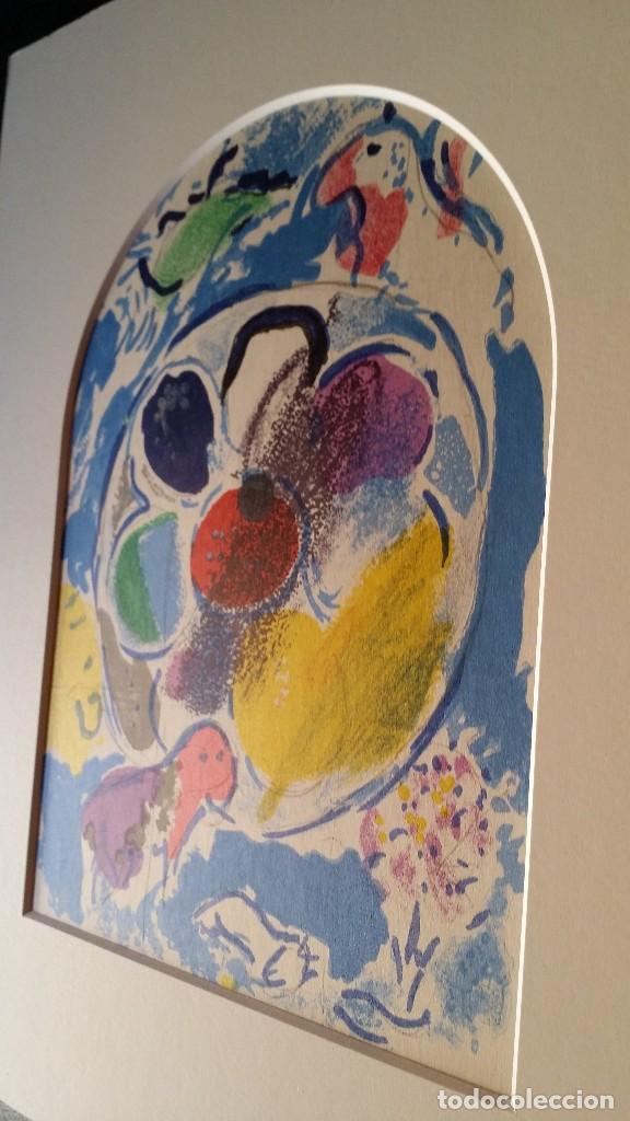 Arte: Marc CHAGALL: litografía BENJAMIN, Vidrieras de JERUSALEM / SAURET-MOURLOT, 1962 - Foto 5 - 170368608