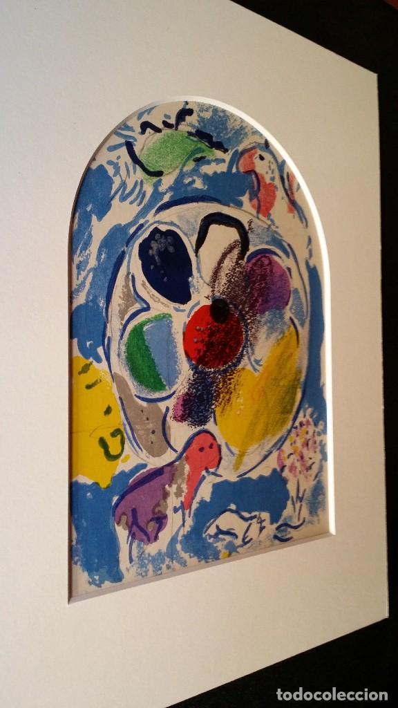 Arte: Marc CHAGALL: litografía BENJAMIN, Vidrieras de JERUSALEM / SAURET-MOURLOT, 1962 - Foto 6 - 170368608