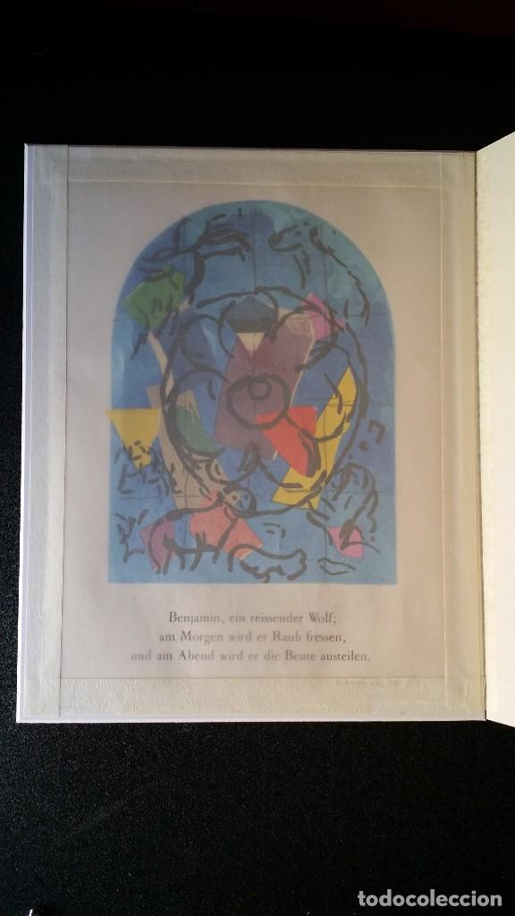 Arte: Marc CHAGALL: litografía BENJAMIN, Vidrieras de JERUSALEM / SAURET-MOURLOT, 1962 - Foto 7 - 170368608