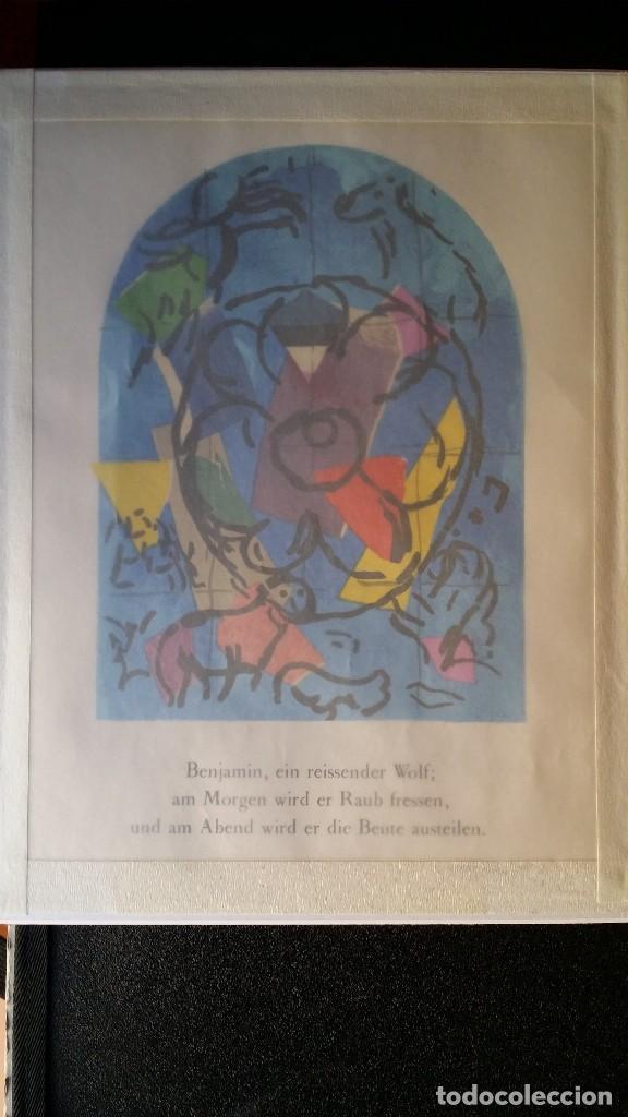 Arte: Marc CHAGALL: litografía BENJAMIN, Vidrieras de JERUSALEM / SAURET-MOURLOT, 1962 - Foto 8 - 170368608
