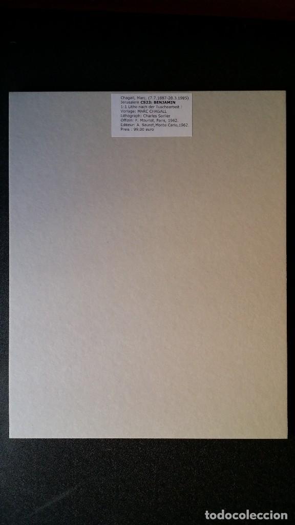 Arte: Marc CHAGALL: litografía BENJAMIN, Vidrieras de JERUSALEM / SAURET-MOURLOT, 1962 - Foto 9 - 170368608