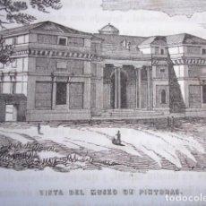 Arte: MUSEO DE PINTURAS .MADRID.GRABADO ORIGINAL AÑO 1849. Lote 170478608