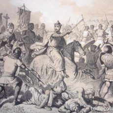 Arte: BATALLA DE LAS NAVAS DE TOLOSA .GRABADO ORIGINAL DEL AÑO 1861. Lote 171027179