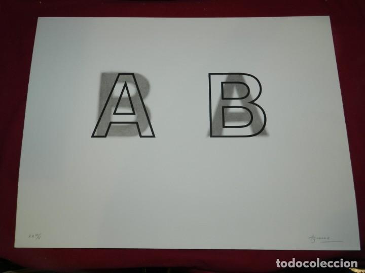 (M) LITOGRAFIA ORIGINAL JOAN BROSSA - POEMA VISUAL A B PRUEBA DE AUTOR IV/V , FIRMADA (Arte - Litografías)
