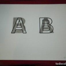 Arte: (M) LITOGRAFIA ORIGINAL JOAN BROSSA - POEMA VISUAL A B PRUEBA DE AUTOR IV/V , FIRMADA. Lote 171102315