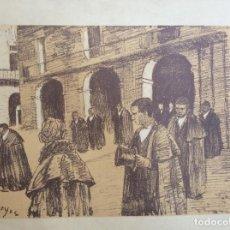 Arte: LITOGRAFÍA DE DARIO DE REGOYOS - ENTIERRO EN OÑATE. Lote 171418127