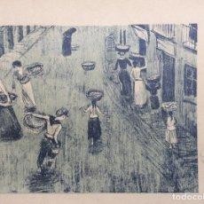Arte: LITOGRAFÍA DE DARIO DE REGOYOS - SARDINERAS. Lote 171419198