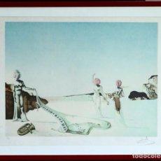 Arte: SALVADOR DALI (1904-1989) LITOGRAFÍA SURREALISTA NUMERADA 85 X 70 CM .. Lote 171551155