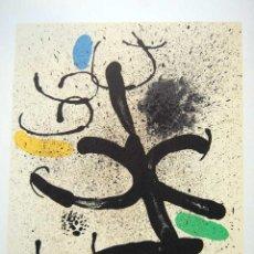 Arte: JOAN MIRÓ - LITOGRAFIA ORIGINAL DERRIERE LE MIROIR - 1971.. Lote 171613704