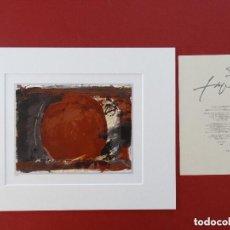Arte: LITOGRAFIA DE ANTONI TAPIES CON CERTIFICADO DE AUTENTICIDAD LIQUIDACIÓN INTERÉS PICASSO, DALI, MIRO . Lote 171684104