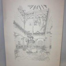Arte: AURORA ALTISENT - BARCELONA ANTIGUA - LITOGRAFIA - 69 CM X 50 CM.. Lote 171993150