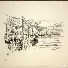 Arte: JOSEP AMAT - LITOGRAFIA - SANT FELIU DE GUIXOLS.. Lote 172028317