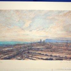 Arte: JAUME V. MALARET - LITOGRAFIA - BARCELONA DIAGONAL MAR - 27/150. KEPRO INMOBILIARIA - NADAL 1992.. Lote 171984173