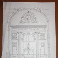 Arte: AURORA ALTISENT - LITOGRAFIA - SALÓN DE CONTRATACIONES - 69 CM X 49 CM.. Lote 172081523