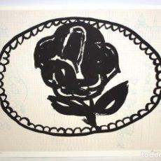 Arte: HERNANDEZ PIJUAN - LITOGRAFIA - UNA ROSA PER A LA FIRA - 55,5 X 76,5 CM.. Lote 172083607