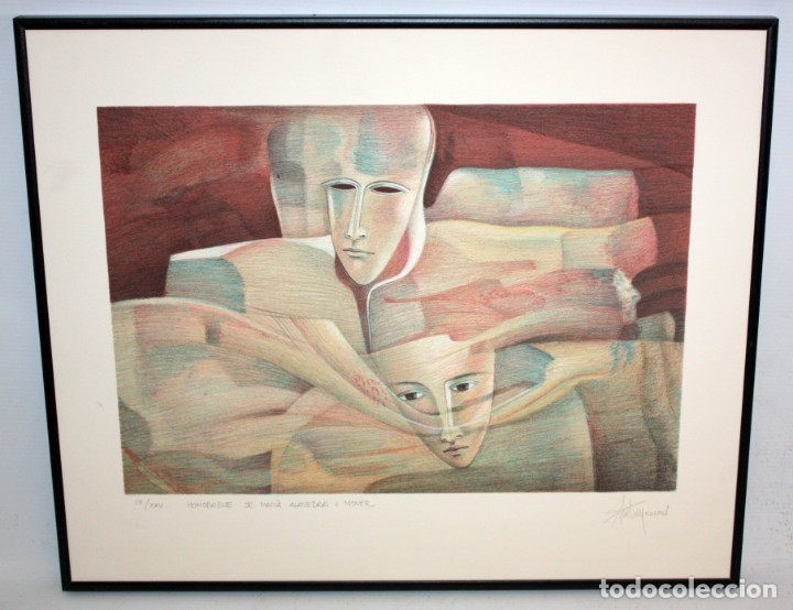 Arte: ANDREU MARTRO - LITOGRAFIA - 4/25 - DEDICADA A MACIA ALAVEDRA. - Foto 2 - 172155324
