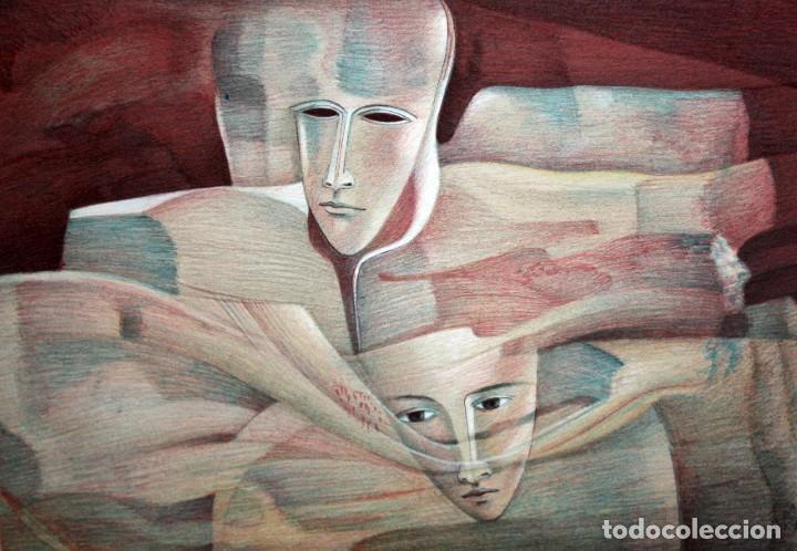 ANDREU MARTRO - LITOGRAFIA - 4/25 - DEDICADA A MACIA ALAVEDRA. (Arte - Litografías)