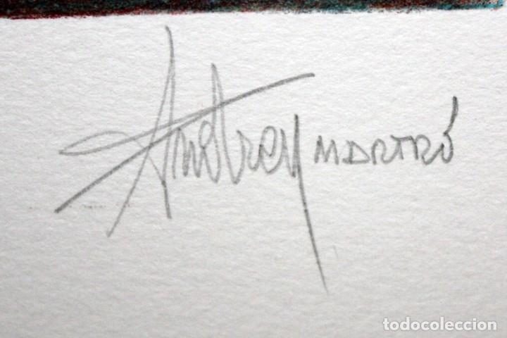 Arte: ANDREU MARTRO - LITOGRAFIA - 4/25 - DEDICADA A MACIA ALAVEDRA. - Foto 5 - 172155324